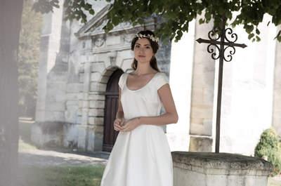 Robes de mariée bohèmes : découvrez la collection Brume 2017 d'Au fil d'Elise