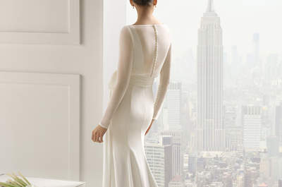 Vestidos de manga larga para novias otoñales