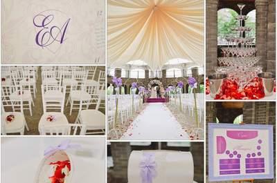 Фиолетовый: магический цвет для особенной церемонии!
