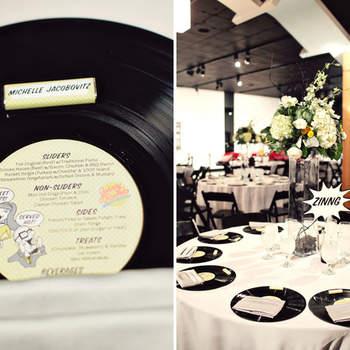 Décoration amusante et fantaisiste pour les tables de votre mariage. Photo : Green Wedding Shoes