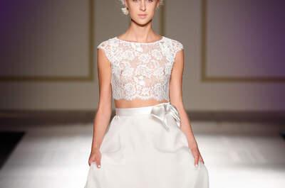 Spektakularne dwuczęściowe suknie ślubne! Wspaniałe!