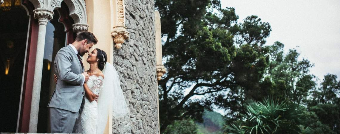 Real Wedding: An Elopement Destination Wedding for just two in Sintra, Portugal.