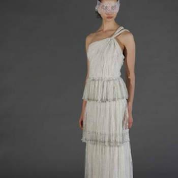 Vestido de noiva com saia peplum da colecção Douglas Hannant Primavera 2013