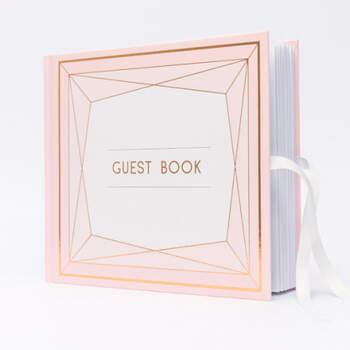 Libro de Firmas con dibujos geometricos- Compra en The Wedding Shop