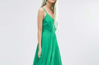 Vestidos de fiesta verdes cortos 2017: Un look impactante y lleno de color