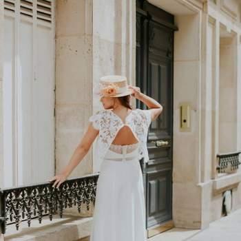 Robe de mariée vintage modèle Marjorie - Crédit photo: Elsa Gary