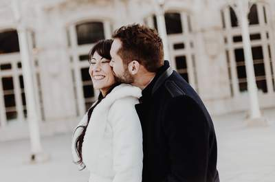 Julie et Jean Benoit : un mariage hivernal en blanc et rose pâle