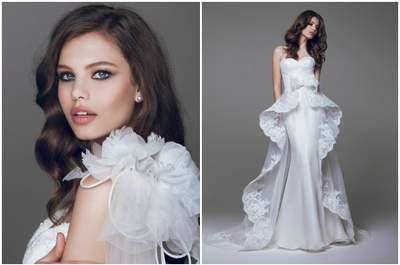Свадебные платья Blumariene 2015: цветы, стразы и кружево