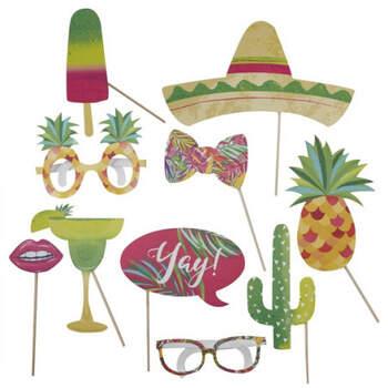 Atrrezo para Photocall de estilo mexicano 10 unidades- Compra en The Wedding Shop