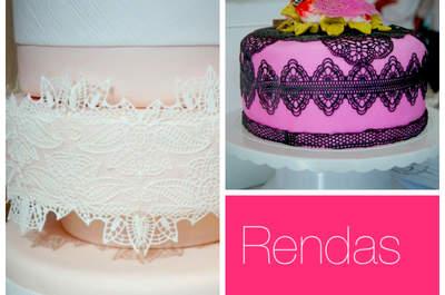 A delicadeza da renda nos bolos de casamento. Foto: Mariana Ortigão
