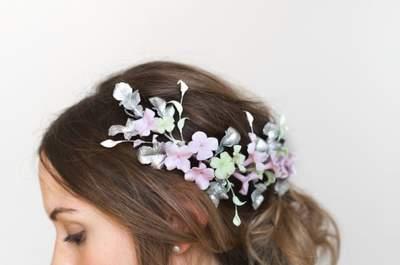 ¡Atención novias de invierno! 24 accesorios ideales para el cabello
