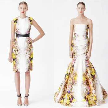 Monique Lhuillier apresentou, na New York Bridal Fashion Week, as suas colecções 2013 de vestidos de noiva, vestidos para damas de honor (bridesmaids) e Resort. Desta última, seleccionámos agora os nossos looks de festa preferidos para si.