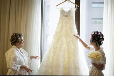 Cómo cuidar mi vestido de novia el día de la boda
