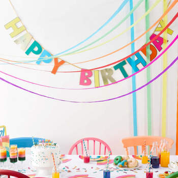 Guirnalda Happy Birthday Arco Iris- Compra en The Wedding Shop