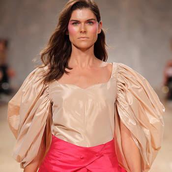 Sónia Balacó também desfilou para o estilista Diogo Miranda
