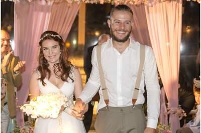 Casamento rústico chic em tons de rosa de Juliana e Neto: muito romantismo em Ilhabela!