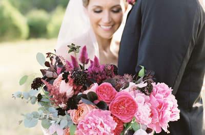 Los ramos más bellos en color rosa. ¡Trasmite romanticismo y dulzura en tu boda!