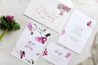 Zaproszenia z najmodniejszym motywem kwiatów. Eleganckie i nowoczesne!