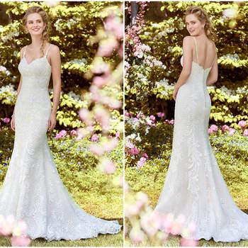 Verführerisch und figurbetont präsentiert sich dieses Kleid mit hervorragenden Details wie der langen Knopfleiste am Rücken und feinen Trägern.
