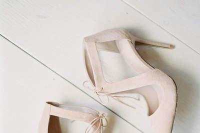 Los zapatos de novia 2017 más hermosos de la temporada. ¡Luce tus pies!