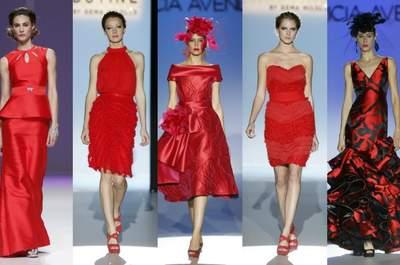 Rouge : la couleur top tendance pour les tenues de mariage et de cocktail 2013