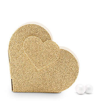 Foto: Caja corazón dorada