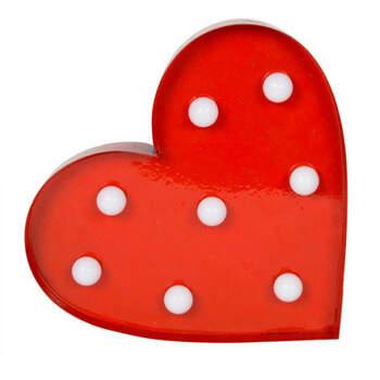 Corazón de metal rojo brillante- Compra en The Wedding Shop
