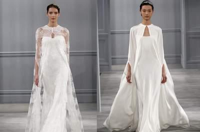 Vestidos de noiva com capas: uma proposta irrevente e elegante para 2015