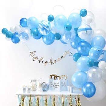 Arco de globos azul 70 unidades - Compra en The Wedding Shop