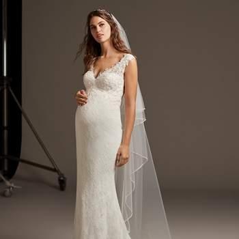 die schönsten brautkleider für schwangere bräute  glamourös mit babybauch