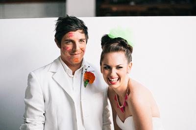 5 ideas para una sesión de fotos de boda en colores neón