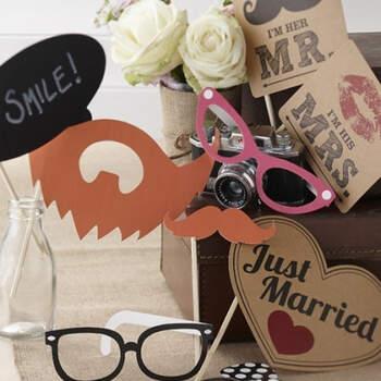 Atrezzo Photocall Pasión Vintage 10 unidades - Compra en The Wedding Shop