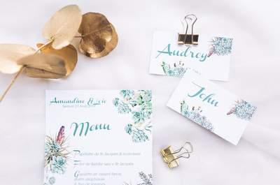 Une inspiration or et menthe pour un mariage estival chic et floral