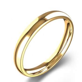 Navas Joalheiros - Aliança amendoada de ouro amarelo - 186€