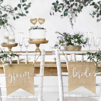 Banderas para Sillas de Novios- Compra en The Wedding Shop