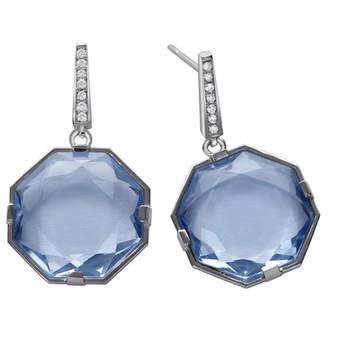 Elegantes pendientes que harán realidad la tradición de llevar algo azul el día de tu boda. Foto: Chancejoyas. http://www.chancejoyas.com