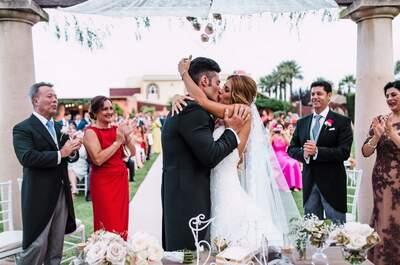 El que la sigue, la consigue: la boda de Nuria y Alejandro