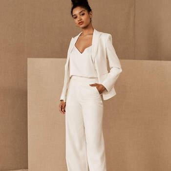 Créditos: BHLDN, The Tailory New York x BHLDN Joanie Suit Jacket & Pant