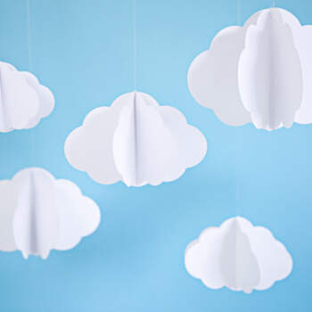 3 piezas de decoraciones de papel en la nube- Compra en The Wedding Shop