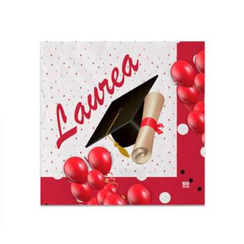 Servilletas de graduación Laurea pequeñas 20 piezas- Compra en The Wedding Shop