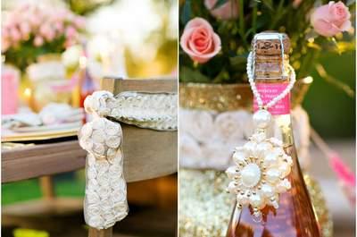 Um casamento rosa e dourado: decoração chique e delicada
