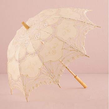 Sombrilla de encaje marfil - Compra en The Wedding Shop