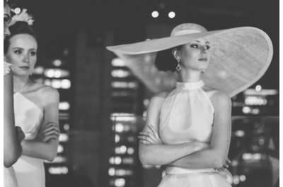 Chapéu de Graciella Starling, vestidos de Bibi Barcellos. Backstage do Bride Style 2013. Foto: Dri Castro
