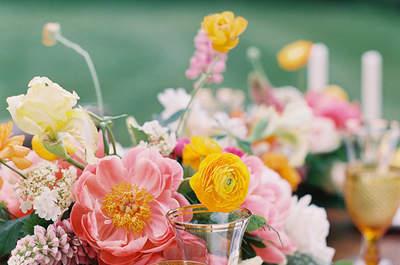 Aussergewöhnliche Blumendekoration im Frühling 2017 – Farbenpracht bei der Hochzeit
