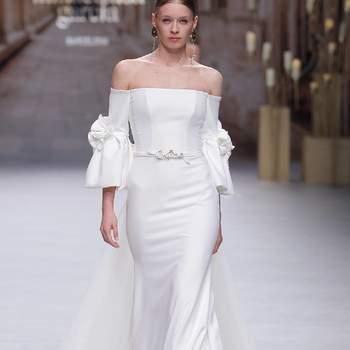 Inmaculada Garcia. Credits: Valmont Barcelona Bridal Fashion Week