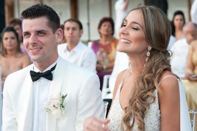 Laura y Marcus: un matrimonio con glamour hecho en casa