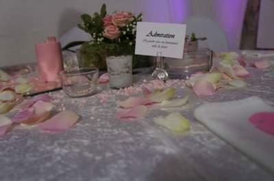Pour ou contre les centres de table hauts à un mariage ?