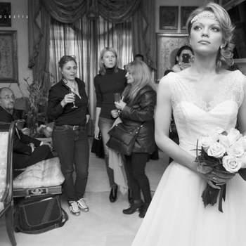 La entrada de la novia deslumbró  las parejas que tomaban ideas para su propio enlace. Foto: Belle Day. http://belleday.com/es/