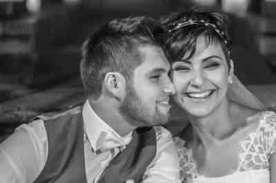 Suellen e João Paulo: casamento vintage com a cara dos noivos no Espaço Quintal