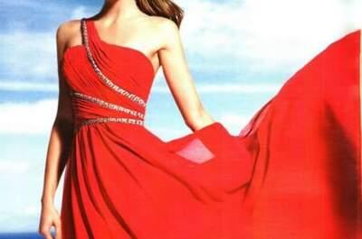 Use a cor da paixão com estes vestidos de festa vermelhos 2017